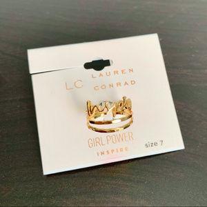 LC Lauren Conrad    Inspire Ring Trio
